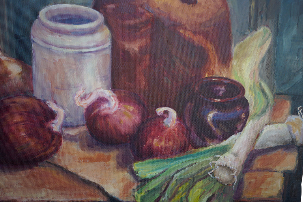 Signed Still Life Oil Painting