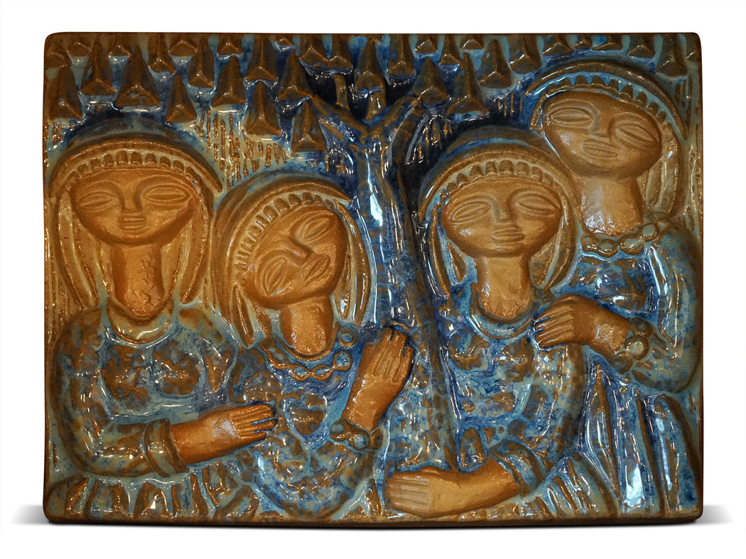 Four Ladies Ceramic Wall Art