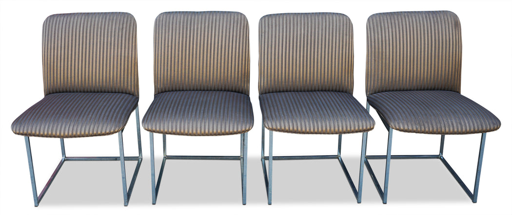 Set of 4 Milo Baughman Dining Chairs