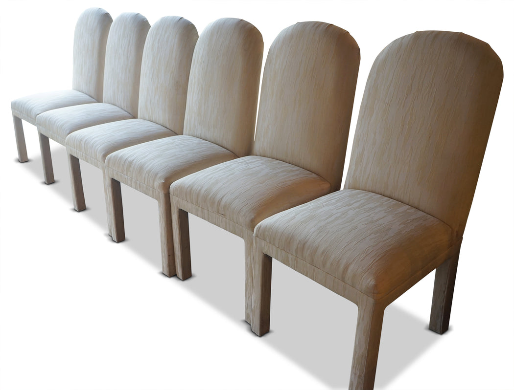 Set of 6 Cream Upholstered Chairs