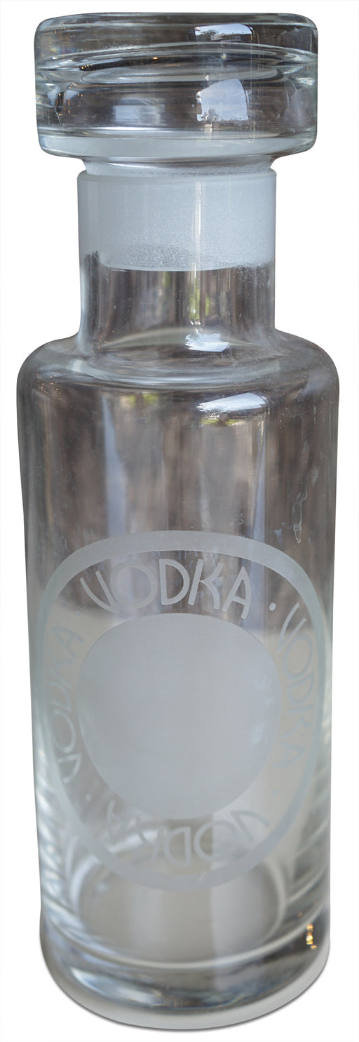 "Glass ""Vodka"" Decanter"