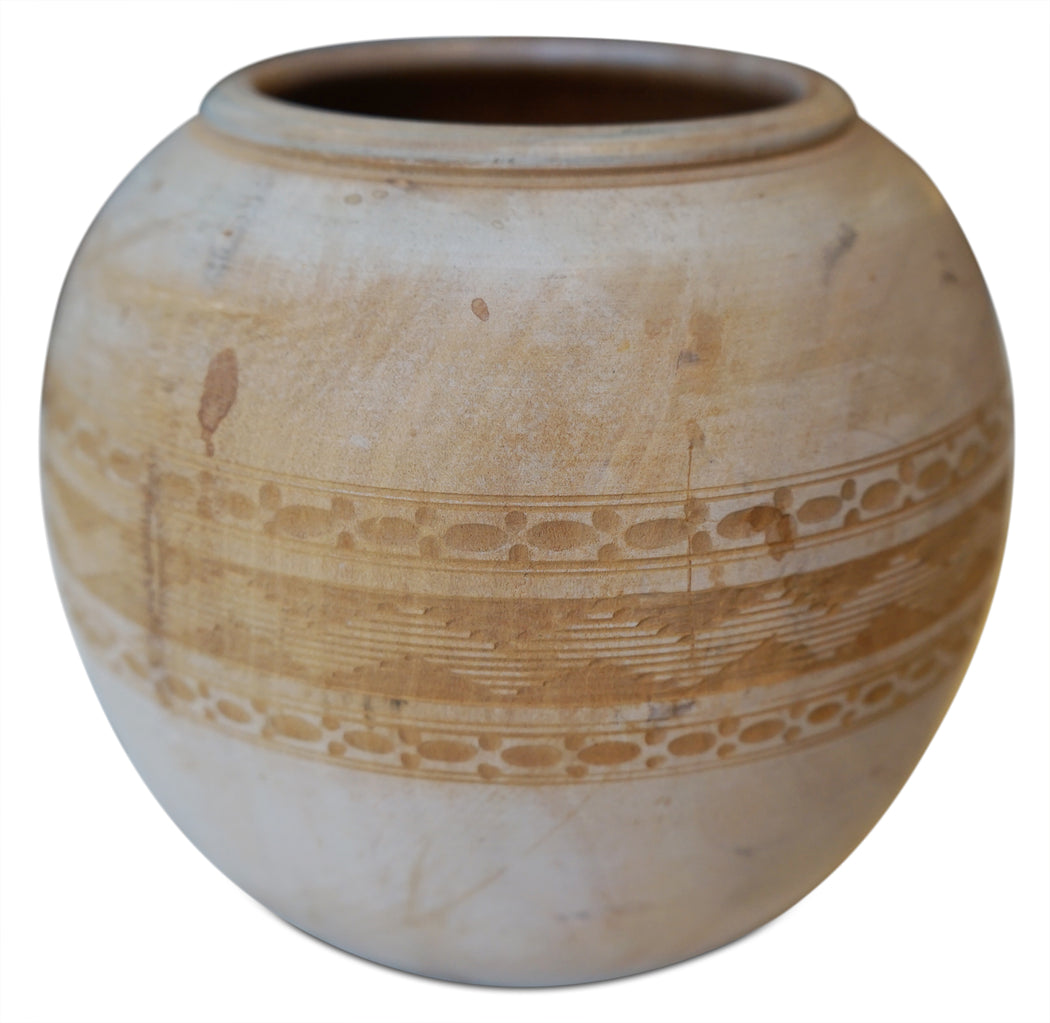 Etched Wooden Vessel