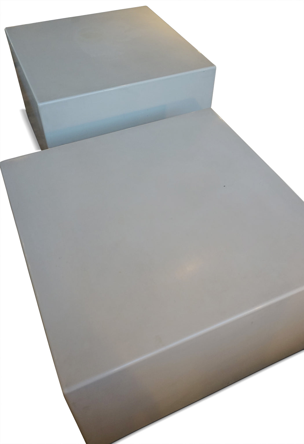 White Lacquer Block Coffee Table