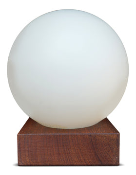 Orb Lamp on Wood Base