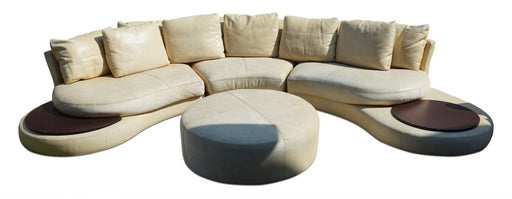 Roche Bobois Leather Sofa + Coffee Table