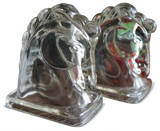 Pair of Glass Horse Heads