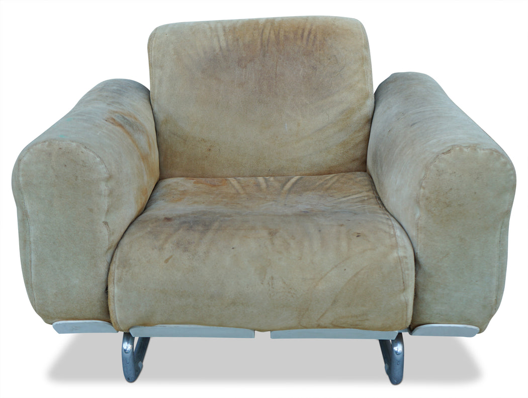 Suede Italian Arm Chair