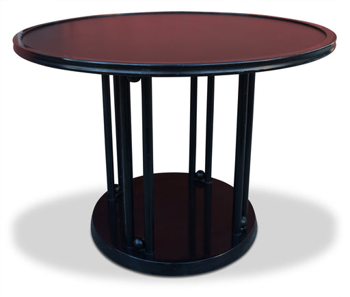 """Fledermaus"" Round Black Dining Table by Josef Hoffman"