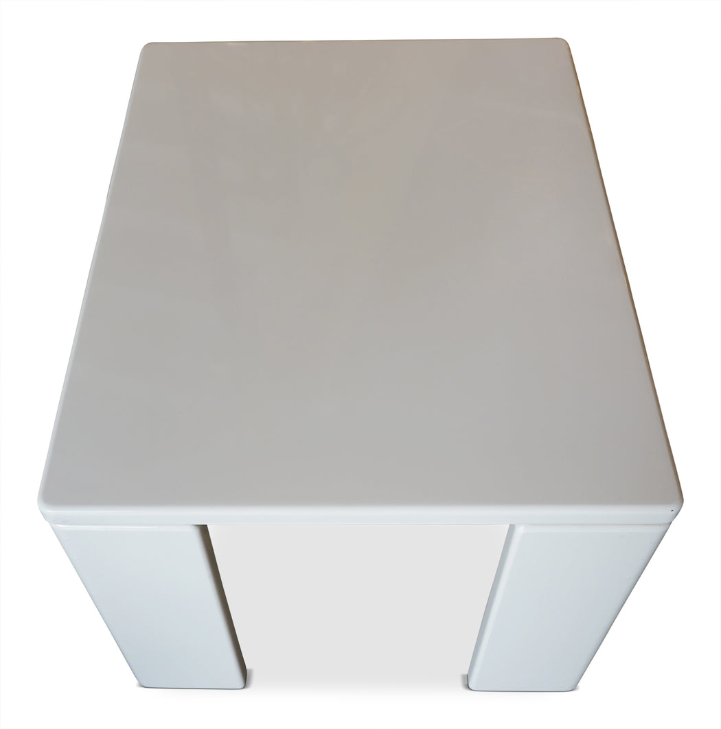 White Lacquer Side Table