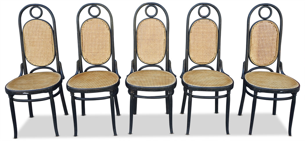 Set of 5 Antique Thonet Chairs