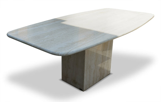 Polished Travertine Dining Table