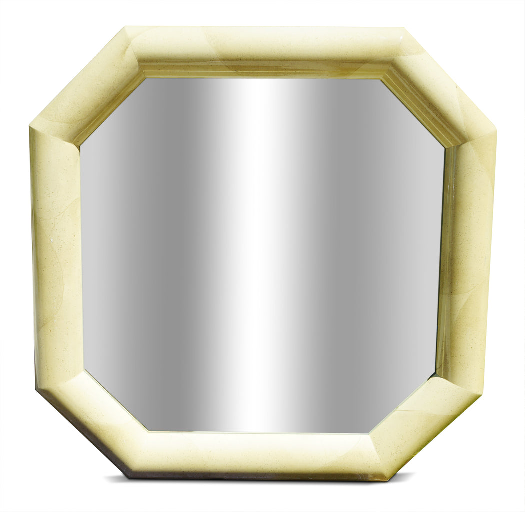 Cream Octagonal Mirror