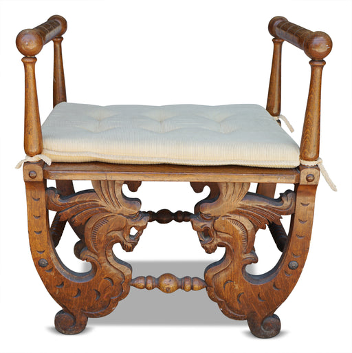 Antique Dragon Bench
