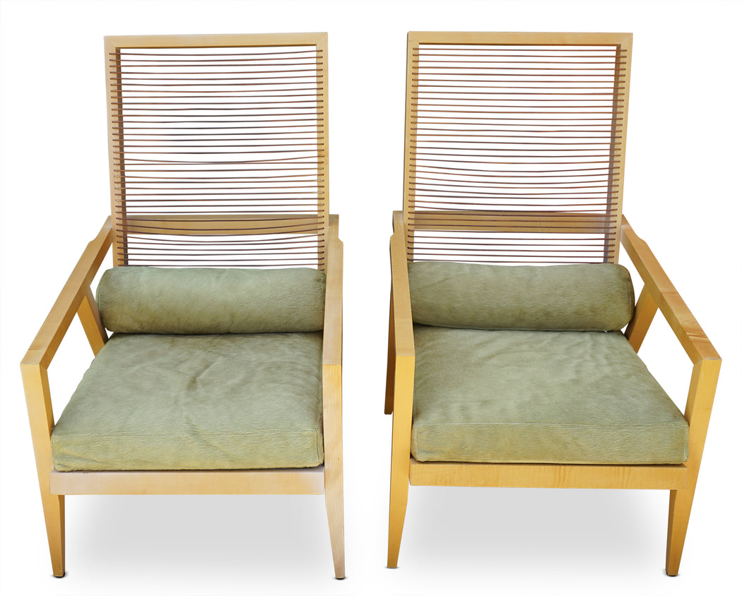 Pair of Lounge Chairs by Franco Bizzozzero