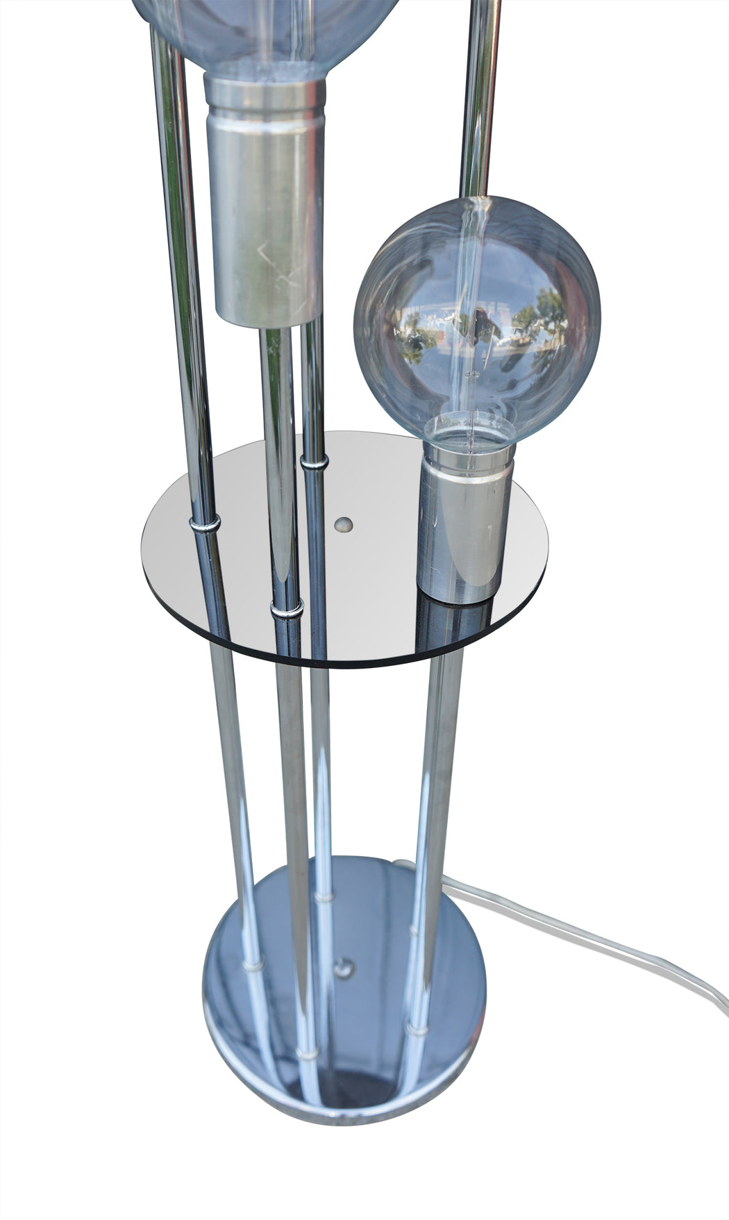 Five Globe Chrome Floor Lamp