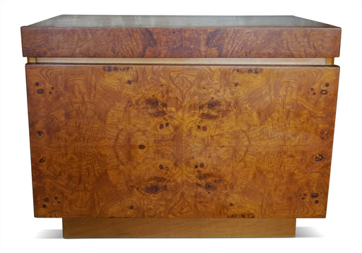 Pair of Burl Nightstands by Milo Baughman for Lane