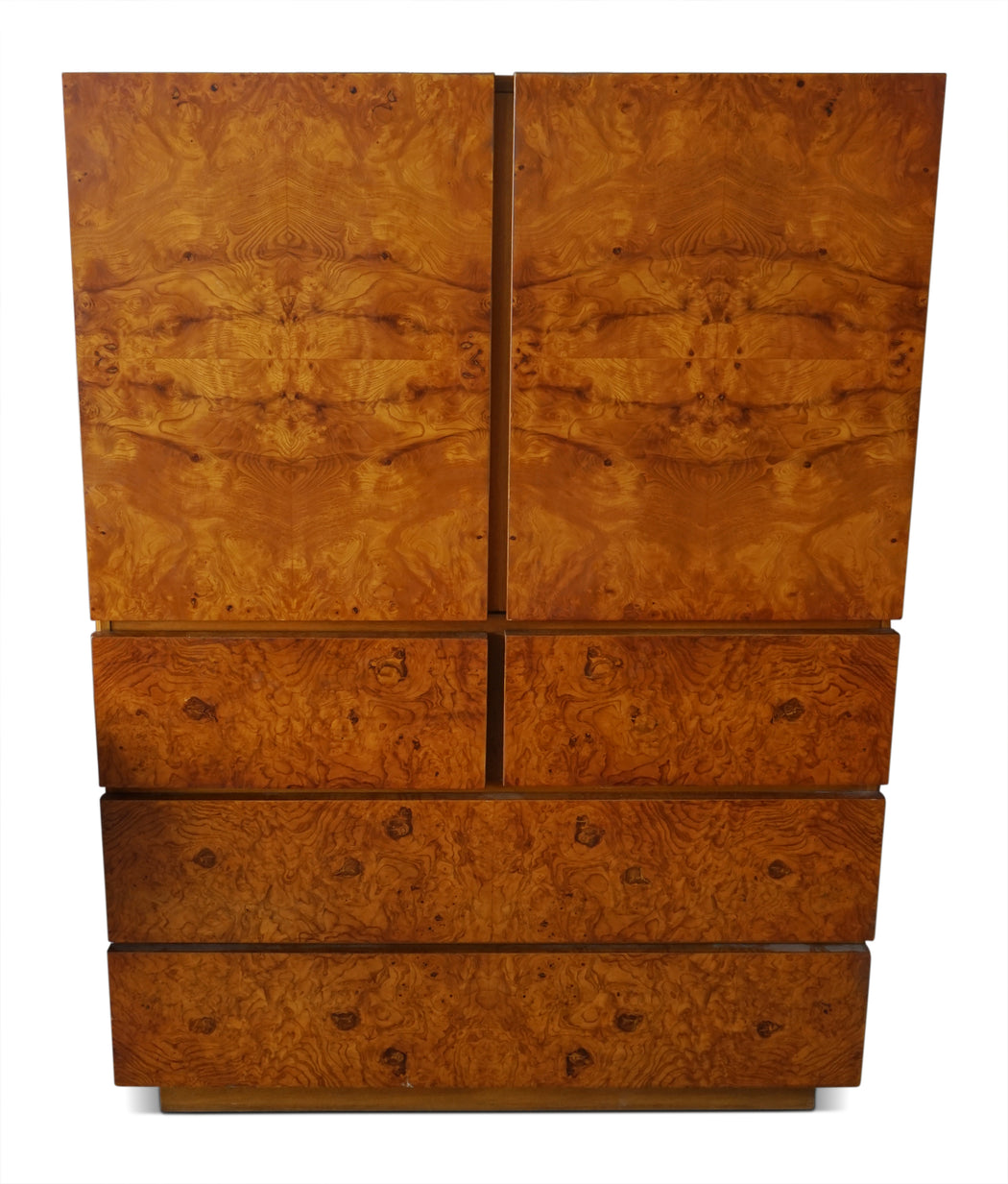 Burl Armoire by Milo Baughman for Lane