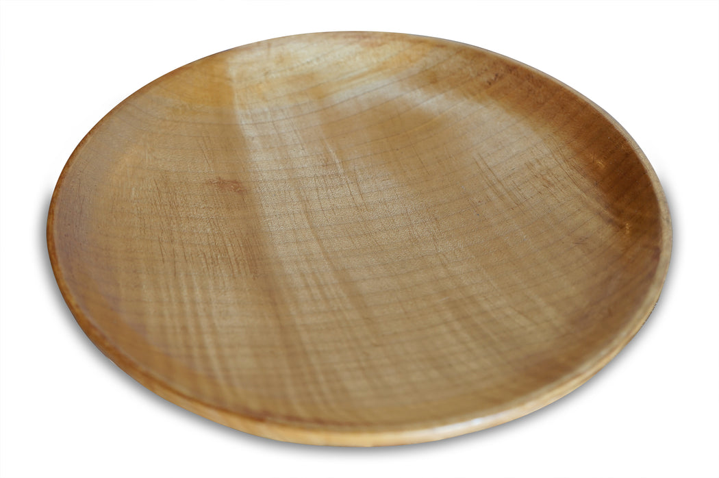 Large Wood Footed Plate