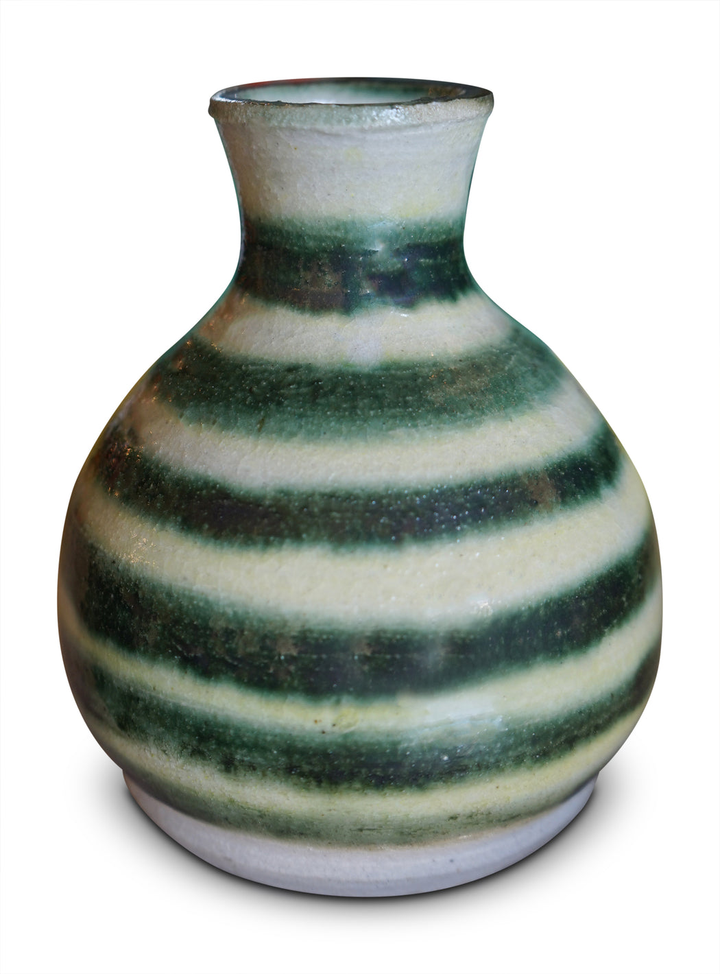 Striped Glazed Ceramic Vase