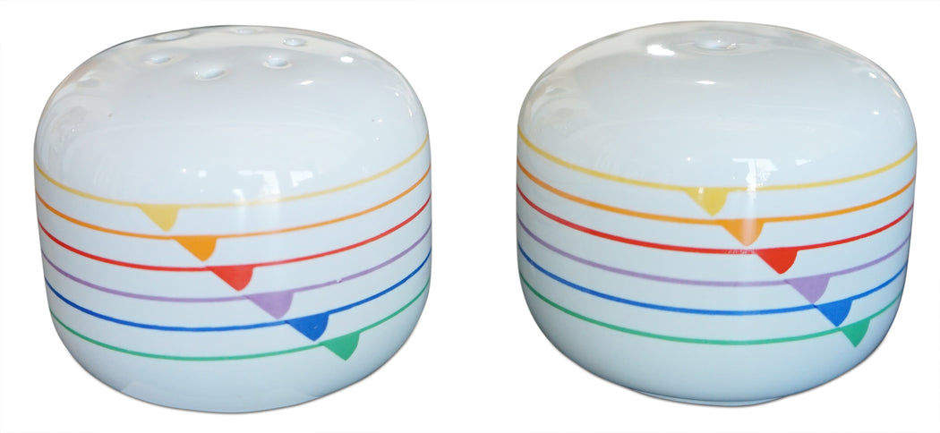 Retro Rainbow Salt + Pepper Shakers