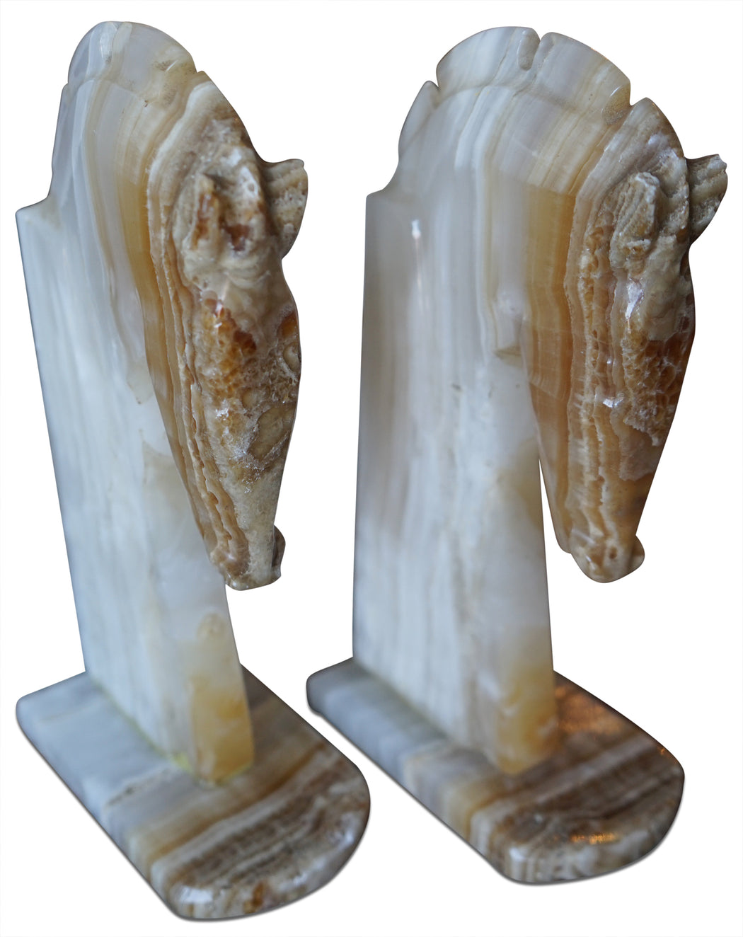 Pair of Stone Horse Head Bookends