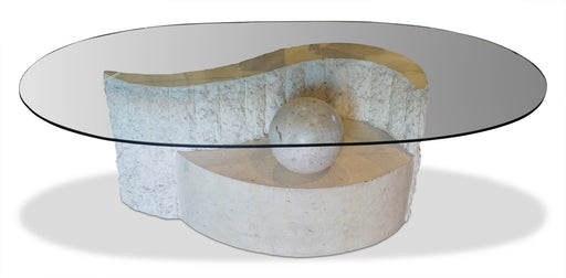 Oval Mactan Stone Coffee Table