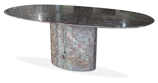 Pink + Grey Marble Dining Table