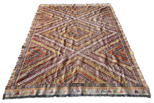 Colorful Woven Flat Weave Rug