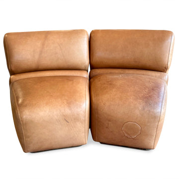 Pair of Modular Leather Chairs by Jack Cartwright