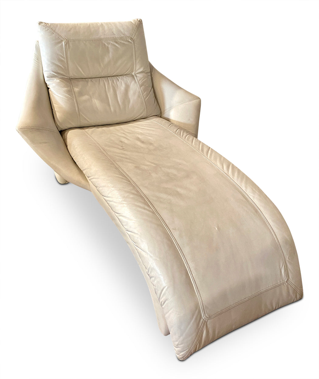 White Leather Lounger