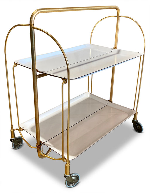 White Folding Bar Cart