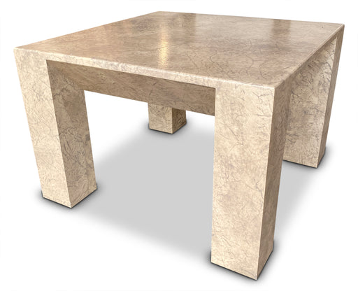 Stone Effect End Table