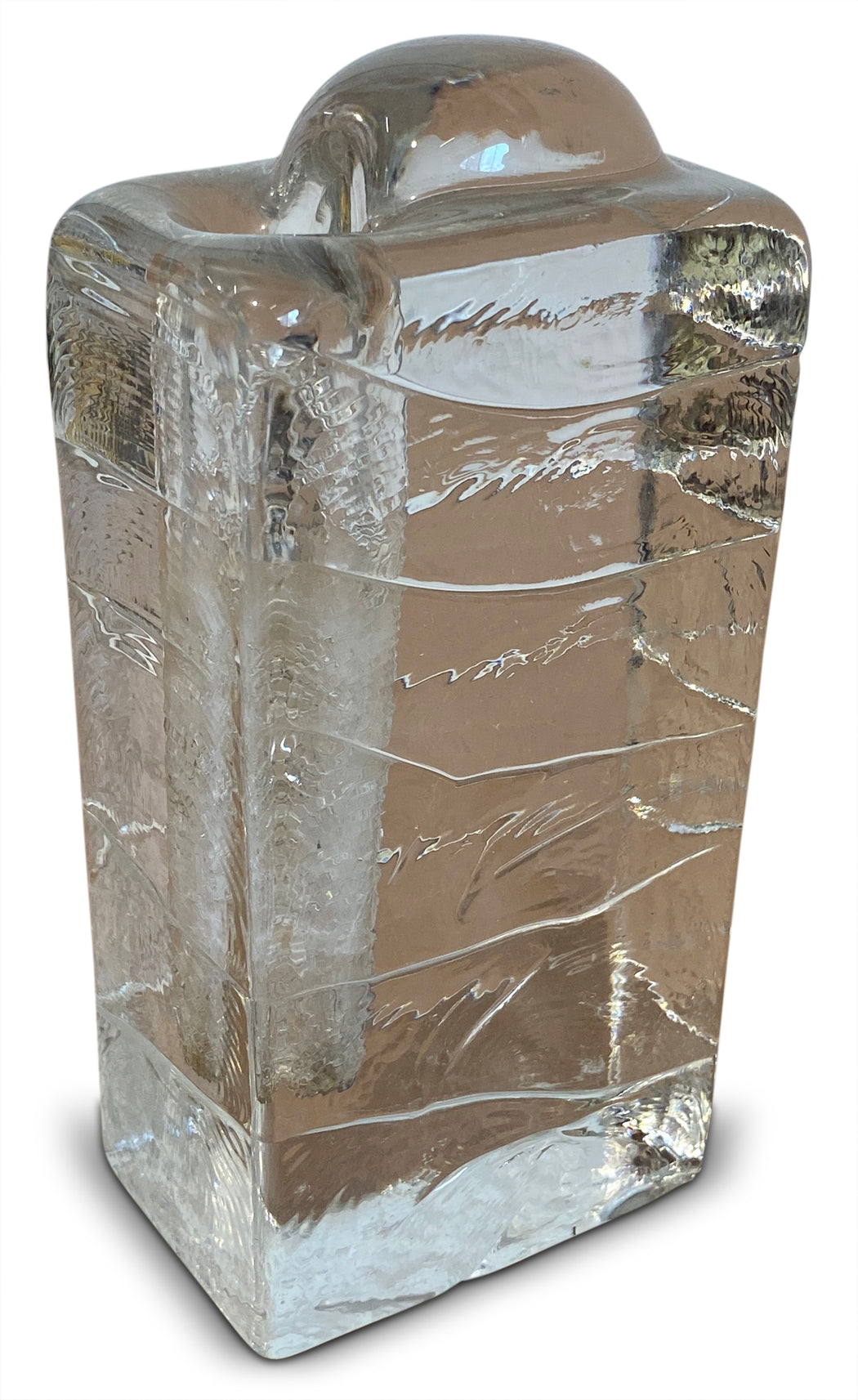 Glass 'Ice Cube' Bud Vase