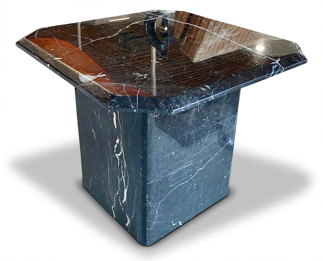 Black Marble End Table
