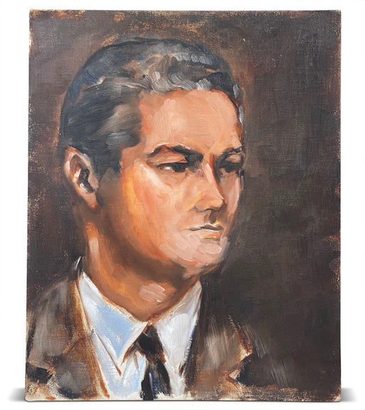 Portrait of Man in Brown Blazer