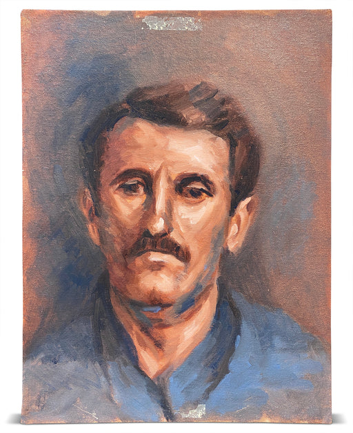 Portrait of Mustached Man