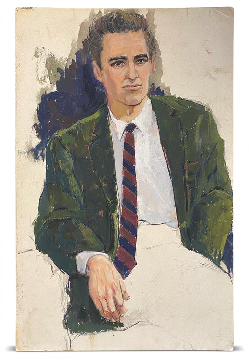 Painting of Man in Green Blazer