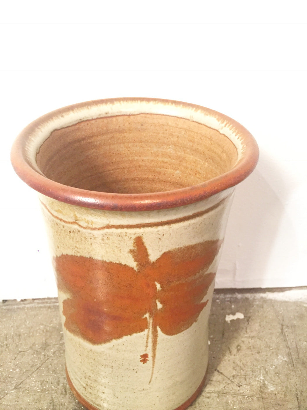 Mid Century Studio Earthenware Pottery Vase