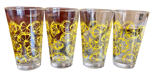 Set of 4 Lemon Wedge Drinking Glasses