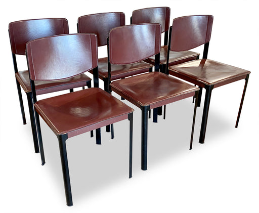 Set of 6 Leather Dining Chairs