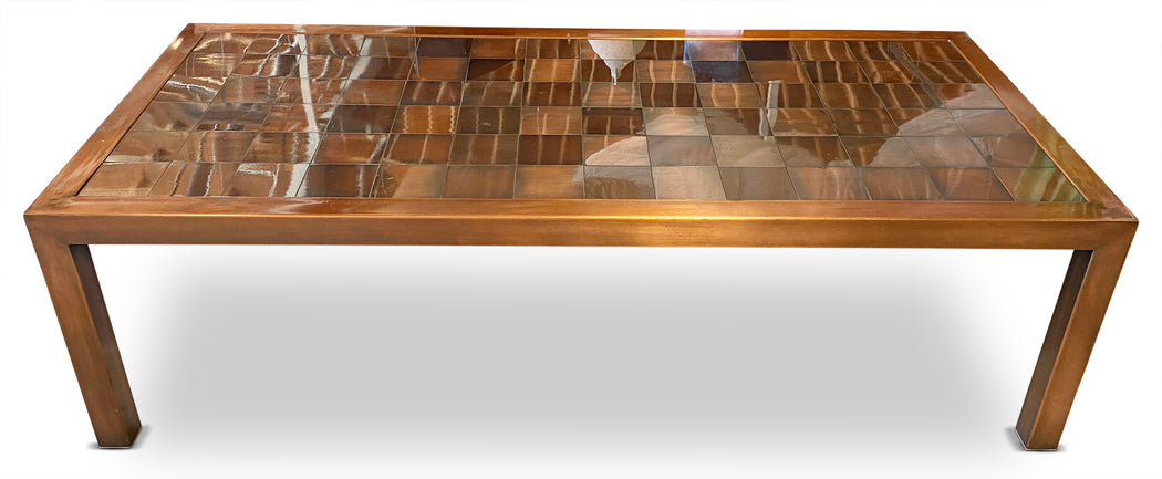 Copper Checkered Coffee Table