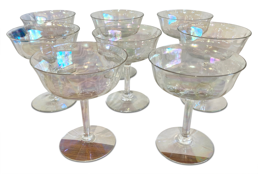Set of 8 Iridescent Coupes