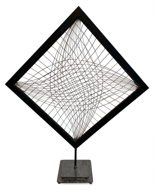 Woven Metal Sculpture on Base
