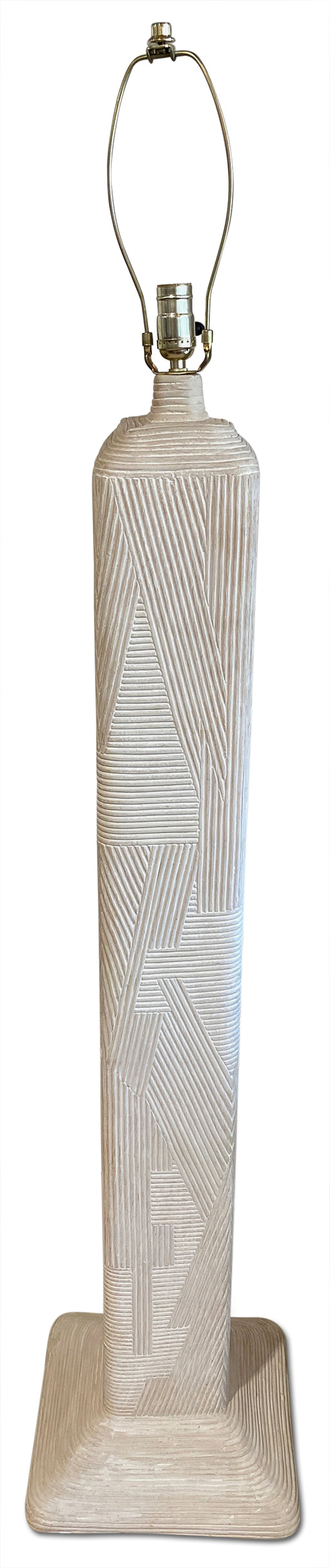 White Pencil Reed Floor Lamp