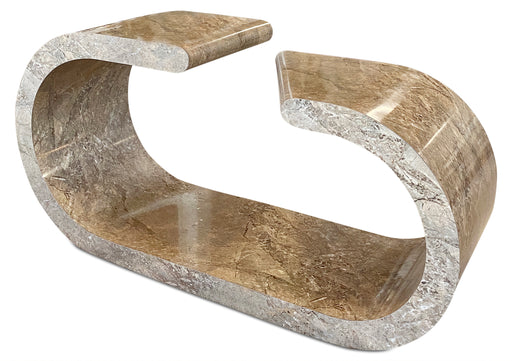 Faux Stone Veneer Two Prong Console
