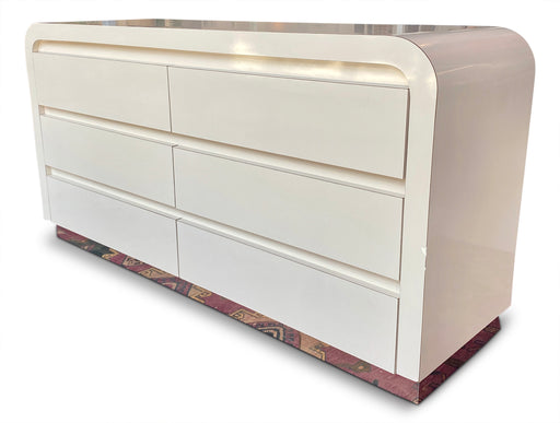 Cream Lacquer Waterfall Dresser