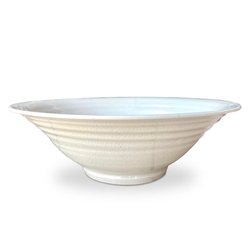 White Crazed Ceramic Bowl