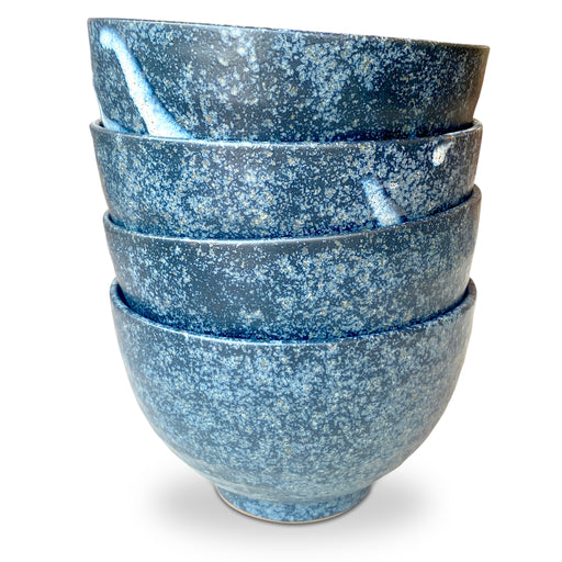 Set of 4 Blue Ceramic Bowls