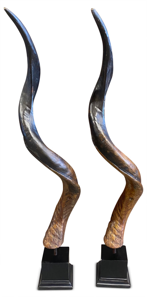 Pair of Decorative Resin Horns