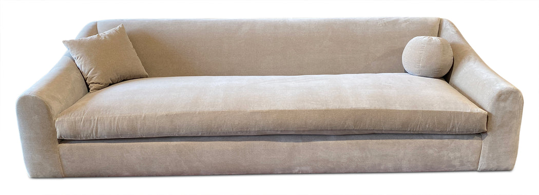 Custom Buff Velvet Sofa